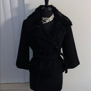 Bebe wool double breasted pea coat